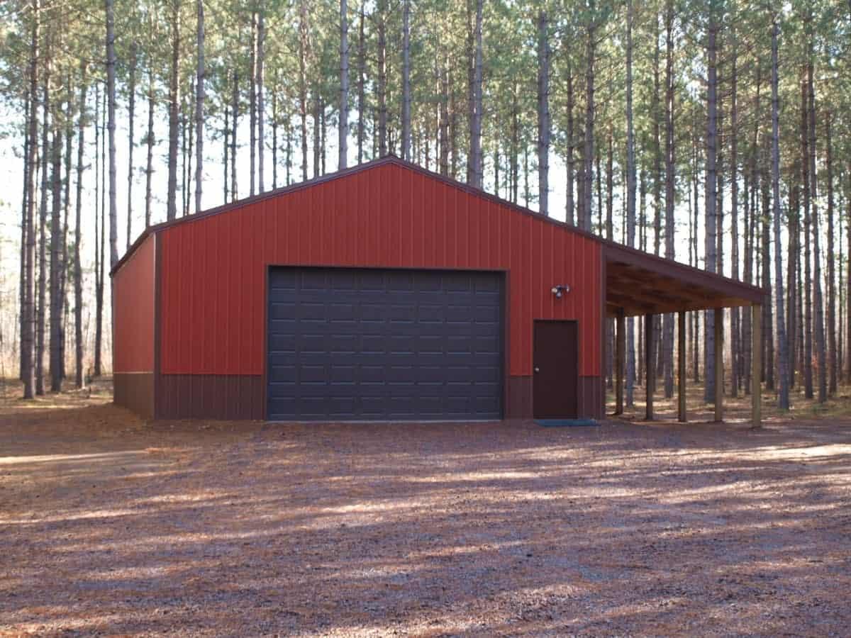 Pole Barn Garage at the Cabin