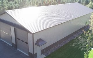 Shiny Pole Barn Roof