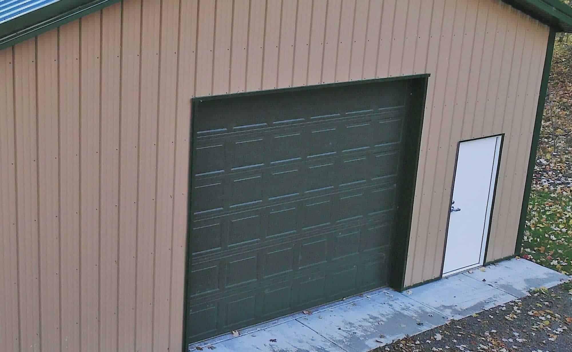 Pole Building Garage Door
