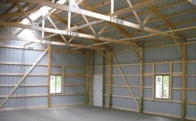 Inside Pole Barn