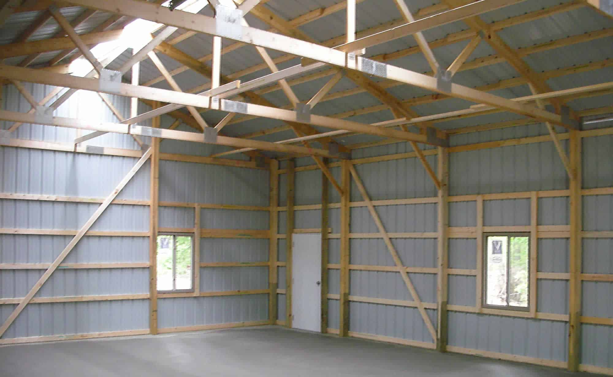 Inside Pole Barn