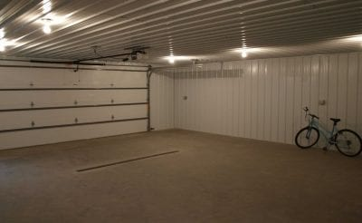 Inside of Pole Barn Garage