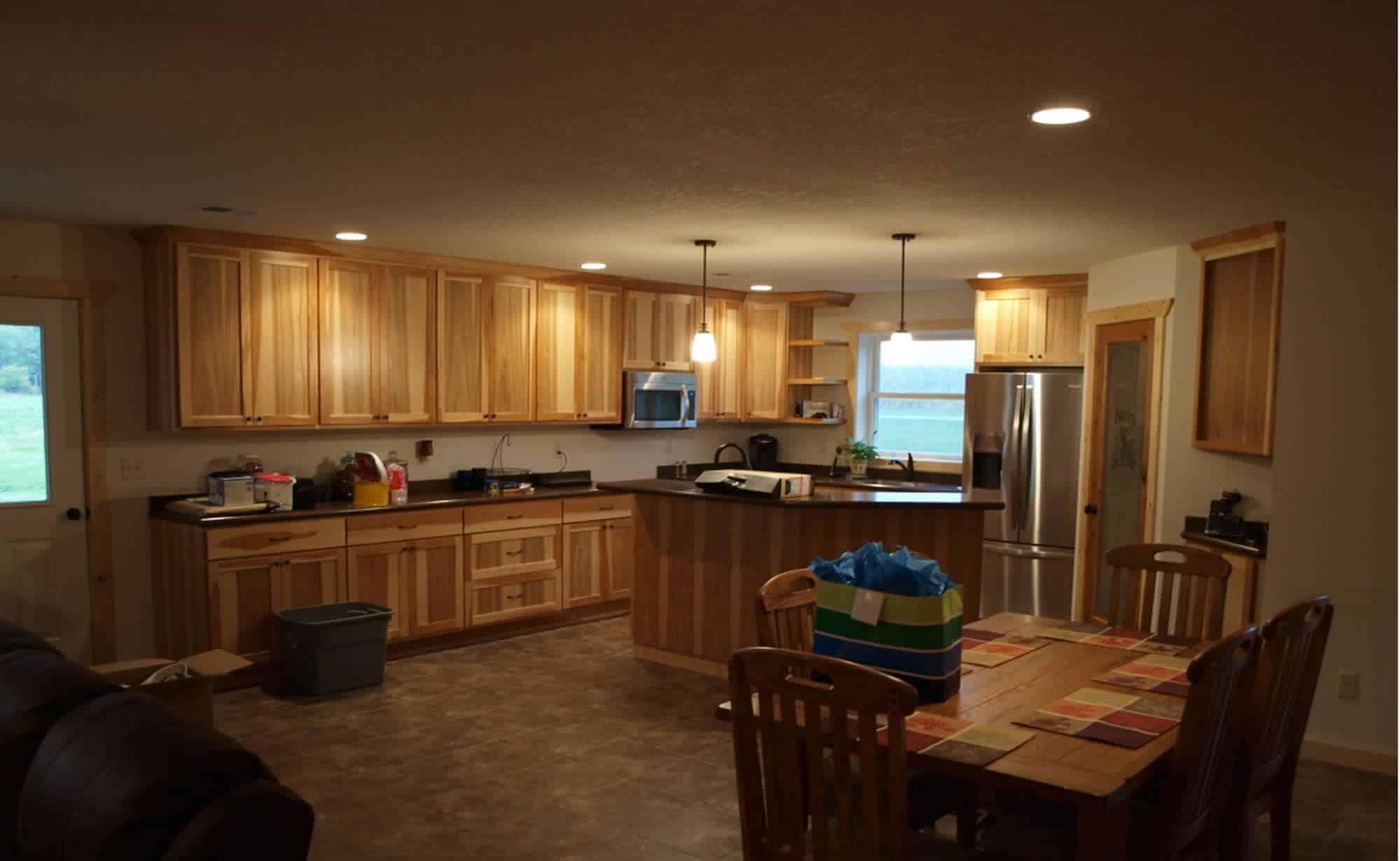 Pole Building House Kitchen