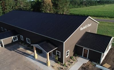 commercial pole barn building