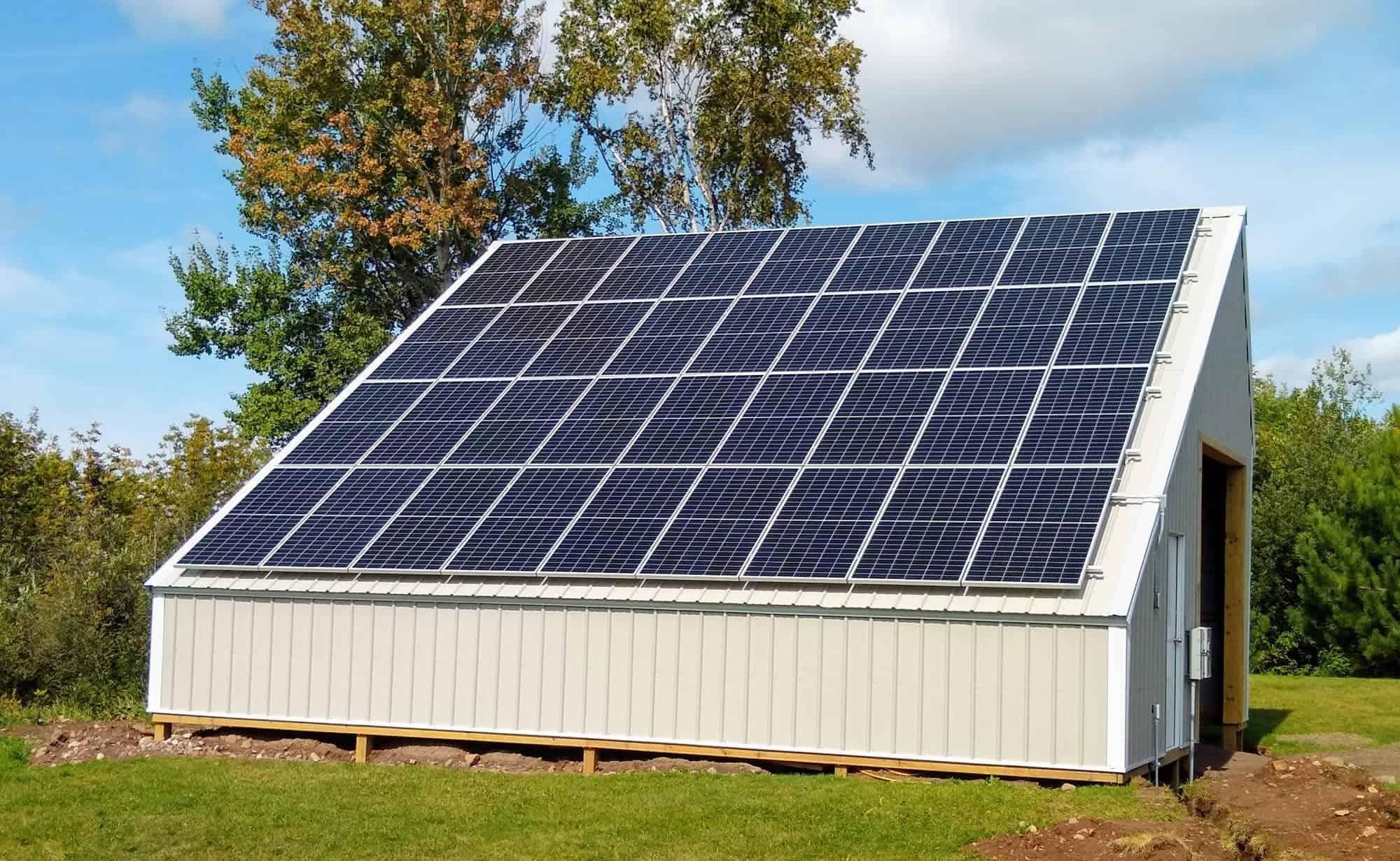 solar panels on pole building