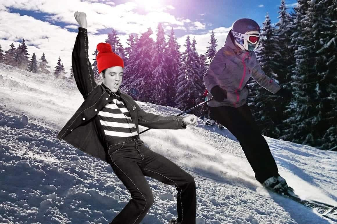 Elvis Skiing