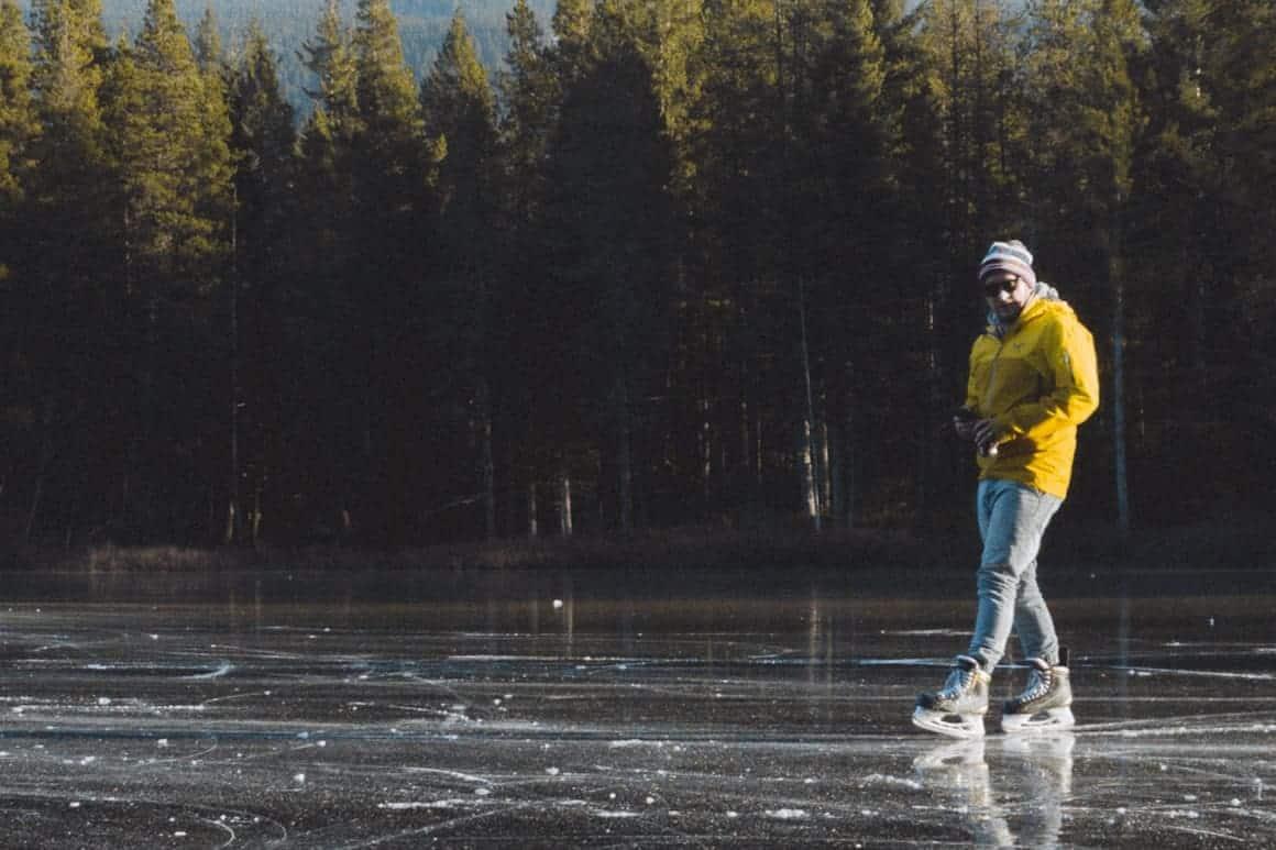 Ice Skate MN Lake