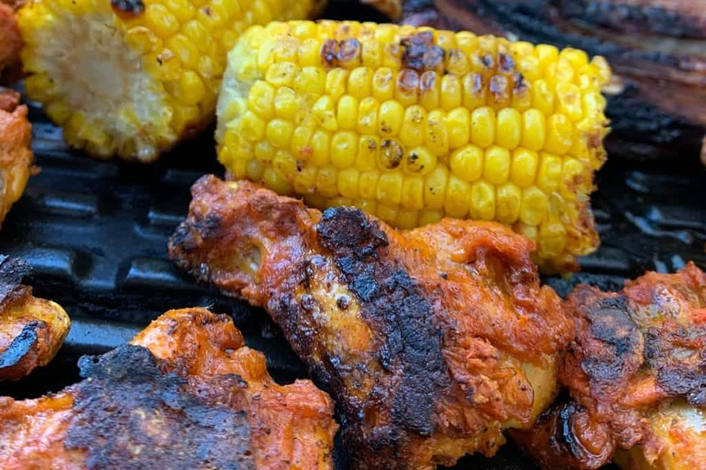 Grilled Chicken and Corn