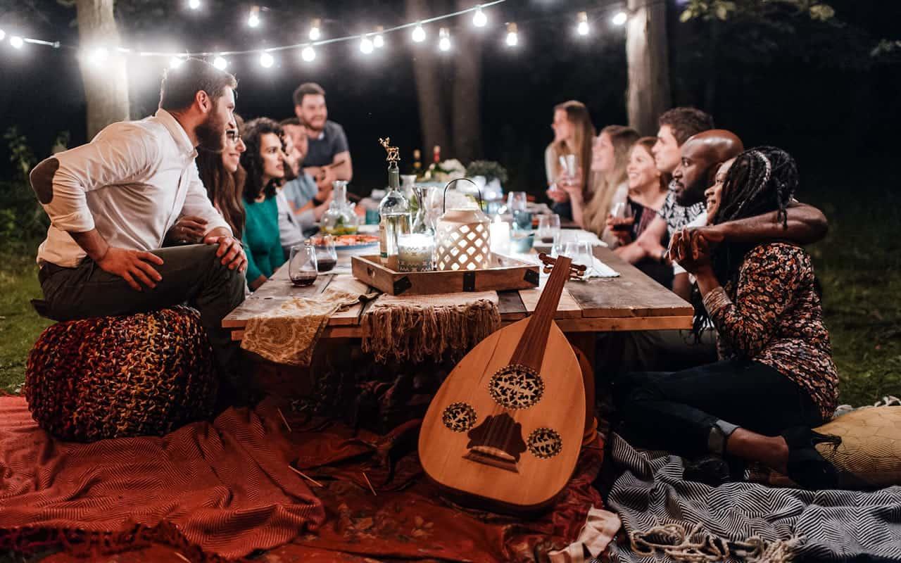 Friends Around Table